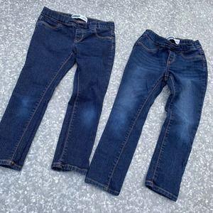 2 Old Navy Skinny Jeans Elastic Waist Girls 6/7